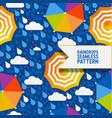 raindrops and umbrella seamless pattern vector image vector image