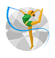 rhythmic gymnastics with ribbon vector image vector image