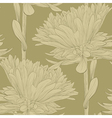 seamless background with flowers aster vector image vector image