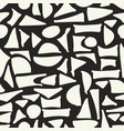 seamless hand drawn geometric pattern abstract vector image vector image