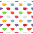 seamless pattern of tea cup vector image vector image