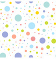seamless texture with random colorful circles vector image