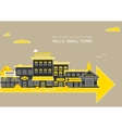 Set buildings of small business flat design vector image