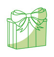 shadow christmas gift cartoon vector image