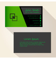 simple black and green business card design eps10 vector image vector image
