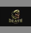 skull in a military beret vector image vector image