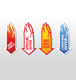 Special offer flaming arrow symbols concept vector image vector image