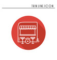 street food retail thin line icon food trolley vector image vector image