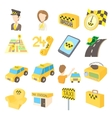 Taxi icons set cartoon style vector image vector image