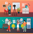 video blog shooting compositions vector image vector image