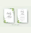 wedding floral watercolor style double invite vector image