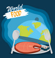 world food day healthy lifestyle meal sushi vector image vector image