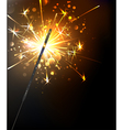 Yellow Sparkler vector image vector image