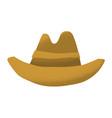 cartoon style grunge american western cowboy vector image
