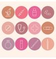 Medicine icons set Line art vector image