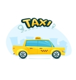 The yellow taxi vector image