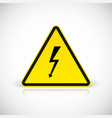 Attention electric shock signs vector image