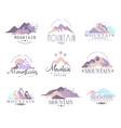 mountain original logo design since 1965 year vector image
