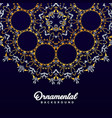 arabic ornament background baroque in victorian vector image