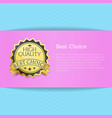 best choice high quality award vector image vector image
