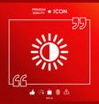 brightness symbol icon vector image vector image