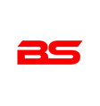 bs letter logo vector image vector image