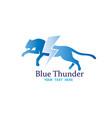 cheetah thunder logo vector image vector image