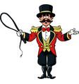 circus ring master vector image vector image