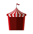 circus tent isolated icon vector image vector image