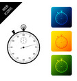 classic stopwatch icon isolated timer icon vector image vector image