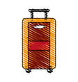color crayon stripe image travel suitcase with vector image vector image
