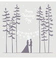 couple in forest evening vector image