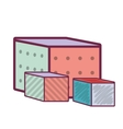 cube baby toy vector image
