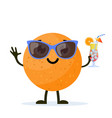 cute and funny orange character vector image vector image