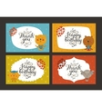 Cute animal cards vector image