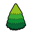 cute christmas tree cartoon vector image vector image
