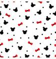 cute panda face seamless wallpaper vector image vector image