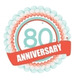 Cute Template 80 Years Anniversary with Balloons vector image vector image