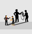 debt labor - bonded labor - modern slavery cover vector image vector image