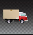 Delivery vehicle truck vector image vector image