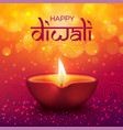 diwali festival indian holiday and happy deepavali vector image
