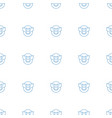 emoji in mask icon pattern seamless white vector image vector image