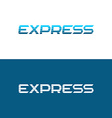 express word logo vector image vector image