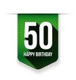 Fifty years happy birthday ribbon vector image