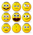 fun smileys vector image