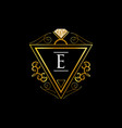 gold initial letter e jewelry sign symbol icon vector image vector image