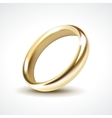 Gold Wedding Ring Isolated vector image vector image