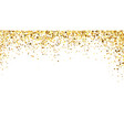 golden confetti background sparkling and shiny vector image