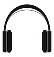 great headphones icon simple style vector image vector image