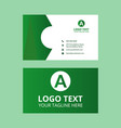 green business card template vector image vector image